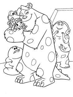 Tegninger Til Farvelaegning Monsters Inc