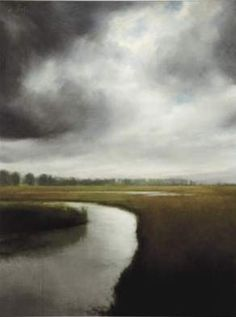 """Storm Over the Marsh"" by James Way.   I love this every time I see it.    For the pool room above the fireplace."