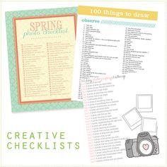 creative lists!