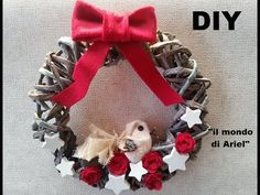 ▶ DIY GHIRLANDA NATALIZIA CON FOGLI DI GIORNALE,riciclo quotidiani,Christmas wreath - YouTube