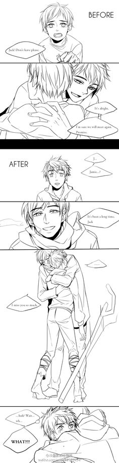 short Rise of the Guardians fanfic done manga style. Awesome, two great things combined