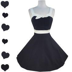 Retro 50s Sailor Pinup Full Skirt Dress L, $50.00