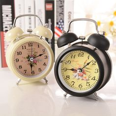 Special offer Ultra-quiet Vintage Classical Traditional Table Creative Alarm Clock by Chime with Night light Metal Metallic Flower Decoration just only $7.74 with free shipping worldwide  #clocks Plese click on picture to see our special price for you