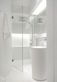 all white bath