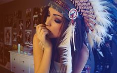 women closed eyes effects Melanie Iglesias Indian colors portraits