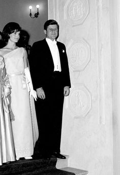 """thestandrewknot: """"  President John F. Kennedy and First Lady Jacqueline Kennedy attend a State Dinner at the White House in honor of President Habib Bourguiba of Tunisia, 1961. """""""