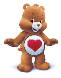 Tenderheart is the eldest and wisest of the Care Bears. Whether it's advice or understanding, a hug or a nudge, he knows just what kids need to help them share their feelings. His belly badge is perfect for the job: a red heart. He is Wonderheart's uncle.