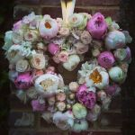 Flower heart, hanging, wedding
