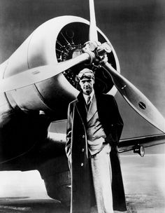 The Aviator Howard Hughes poses in front of the his record setting Northrop Gamma Monoplane in this photo. Hughes broke his first aviation record in the Gamma when he made the west-east American transcontinental run in 9 hours, 26 minutes, and 10 seconds. Howard Hughes, Science Photos, Vintage Airplanes, Dieselpunk, Thing 1, Historical Photos, Photo Library, American History, The Past