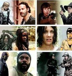 Comic vs Show Walking Dead Show, Walking Dead Series, Keep Walking, Fear The Walking Dead, Best Tv Shows, Favorite Tv Shows, Twd Comics, Dead Inside, Film Books