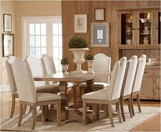 vintage trestle in dining room