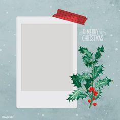 Festive blank Christmas social ads template vector | premium image by rawpixel.com / Donlaya Christmas Frames, Christmas Border, Polaroid Picture Frame, Christmas Card Template, Instagram Christmas, Instagram Frame, Frame Template, Merry Christmas And Happy New Year, Paper Background