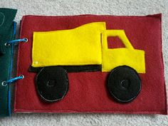 And Next Comes L: Dump Truck Quiet Book Page