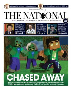 Tomorrow's front page: Tory immigration laws are chasing video games talent from Scotland