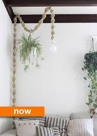 DIY plant hanger light fitting