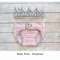 Baby Girl Crochet Crown and Diaper cover, Newborn Crochet Knitted Baby Crown, Newborn Girl Coming Home Outfit, Baby Girl Crown, Crochet Crown, Crochet Dress Girl, Baby Girl Crochet, Crochet Bebe, Crochet Baby Clothes, Crochet Baby Hats, Baby Knitting, Knitted Baby, Irish Crochet