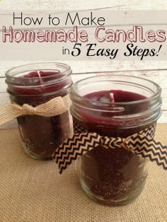 How to Make Homemade Candles in 5 Easy Steps! Perfect for Mothers Day!