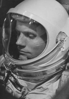 Neil Armstrong by the Helmet