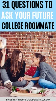 Looking for ways to get to know your future college roommate a lot better? This post is about the 31 best questions to ask your future college roommate!! College Roommate, College Hacks, College Girls, College Life, Guy Dorm Rooms, College Dorm Rooms, Fun Questions To Ask, This Or That Questions, Know Your Future