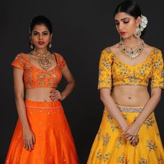 Traditional yellows and oranges embracing sequined floral motifs from LUSH-Spring/summer 2018 collection are a perfect pick for the new age brides. <br> Outfits- Nallamz . <br> Jwellery- P Satyanarayan Sons. <br> Photography- Nikkhil Bareli. <br> Muah- Phani Nemalikanti . <br> Models- Ashna Misra and Arunima suresh . 10 February 2018