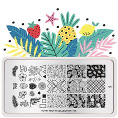 Tutti Frutti 04 | MoYou London Stamping Nail Polish, Nail Stamping Plates, Funky Fruit, Cherry On The Cake, Fruits Images, Stainless Steel Nails, Image Plate, Marca Personal, Tutti Frutti