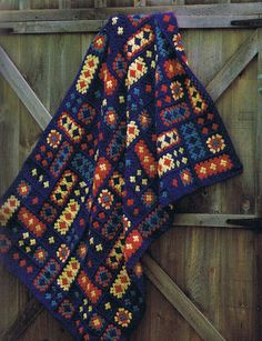 CrazyQuilt crochet afghan pattern/ pdf by timbertrailscrafts, $3.00
