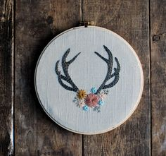 Adorned - Hand Embroidered Hoop Art by LoveMaude on Etsy https://www.etsy.com/listing/199912044/adorned-hand-embroidered-hoop-art