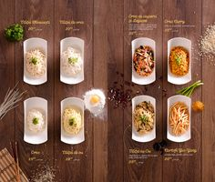 Key Visual, food styling and menu design for Asian House. Food Graphic Design, Food Menu Design, Food Poster Design, Restaurant Menu Design, Asian Cafe, Japanese Menu, Asian House, Menu Layout, Brunch