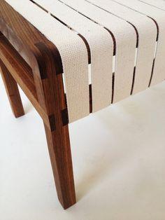 Modern Walnut Bench With Organic Cotton By NORDEASTindustries, $750.00  Bruke Sikkerhetsbelter?