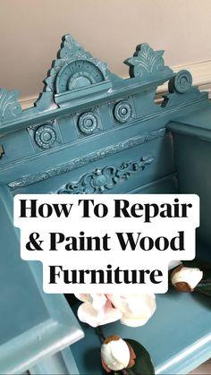 Diy Furniture Renovation, Furniture Repair, Chalk Paint Furniture, Hand Painted Furniture, Handmade Furniture, Upcycled Furniture, Furniture Makeover, Wood Furniture, Smart Furniture