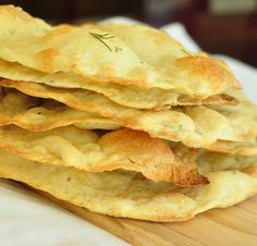 Rosemary and Sea Salt Flat Breads