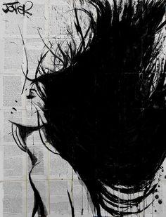 """Saatchi Art Artist: Loui Jover; Ink 2014 Drawing """"mistral...........SOLD"""""""