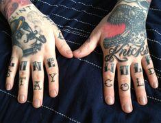 tatuagens nas maos e dedos do dragão