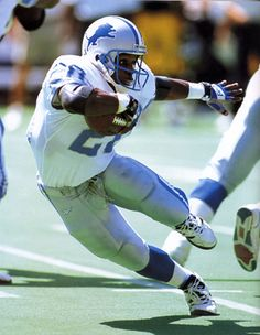 Barry Sanders - One of the best backs in NFL history.