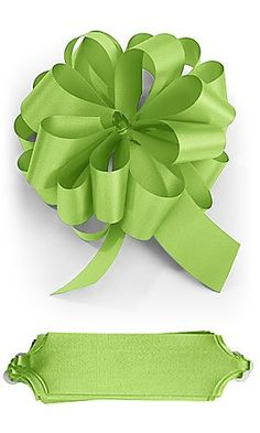 10 Lime Citrus Green Pull 5.5' Diameter Bow 20 Loops Gift Wrapping Wrap Ribbon Instant Bows ** You can find more details by visiting the image link.
