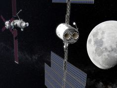 Deep Space Transport approaches the Deep Space Gateway