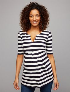 c289306deb9aa Isabella Oliver Ponte Stripe Maternity Top, Navy/White Stripe Maternity  Shops, Bold Stripes