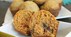 These muffins right here are packed with all kinds of deliciousness! They are moist from the carrots and raisins and crunchy from the a...