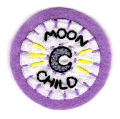Patch enfant lune par mittenfingerz sur Etsy