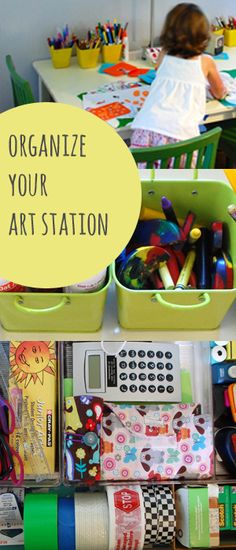 organize your art station :: tinkerlab.com