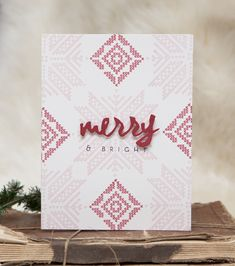 Merry & Bright Card by Ashley Cannon Newell for Papertrey Ink (November 2014)