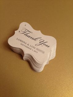 100 Wedding Favor Gift Tags Place Card Escort Tags Thank You Tags