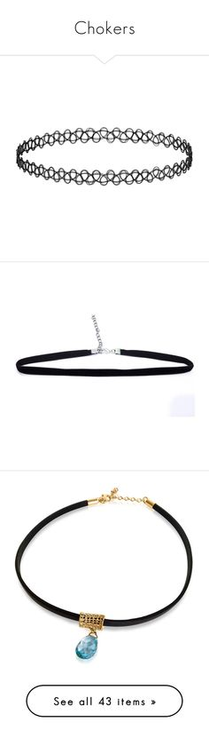 """Chokers"" by cate-ferrari ❤ liked on Polyvore featuring necklaces, jewelry, accessories, chokers, fillers, grunge necklaces, goth choker necklace, gothic necklace, vintage jewelry and choker necklace"