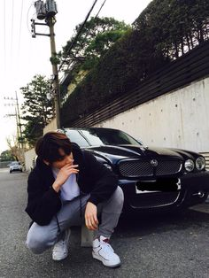 "BTS Tweet - Jungkook (selca) 150403 [TRANS] ""Cars that match the members… cr: ARMYBASESUBS"