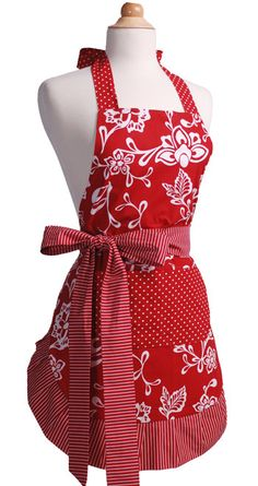 Flirty Apron - Sassy Red