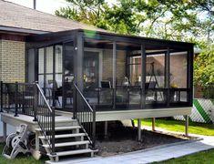 Solarium and veranda - Somac Group Screened Porch Designs, Screened In Deck, Backyard Patio Designs, Patio Ideas, Casa Patio, Pergola Patio, Gazebo, Outdoor Patios, Outdoor Rooms