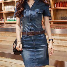 vestidos en jeans - Buscar con Google