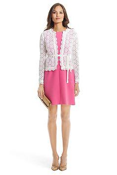 DVF Kirsten Cotton Lace Jacket