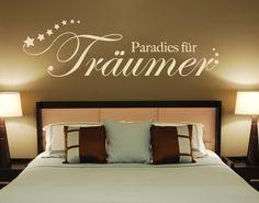Paradies für Träumer! #Wandtattoo #Traum #Schlafzimmer