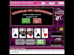 http://usvideopoker.com/ For a 200% Video Poker Match bonus go to http://www.slotsofvegas.eu/click/15/1648/4054/1 and with code SCRATCH100 you also get a $100 FREE with no deposit required.     Make your first deposit and get match bonuses and more.    Play Video Poker including Bonus Poker, Bonus Poker Deluxe, Bonus Deuces Wild Video, All American ...